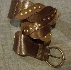 Accessories - free w purchase ☆ Brown leather studded belt